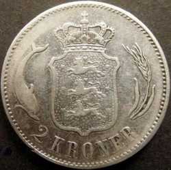 Moeda > 2coroas, 1875-1899 - Dinamarca  - reverse