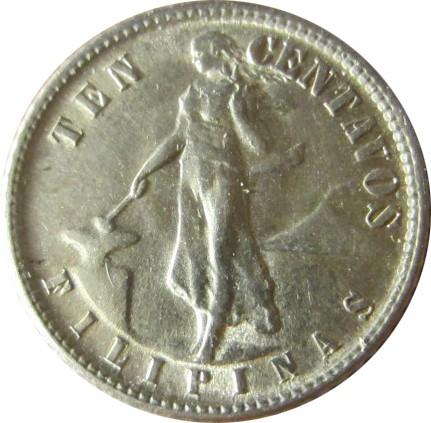 10 Centavos 1937 1945 Philippines Coin Value Ucoinnet