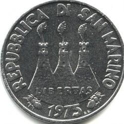 Moneda > 50liras, 1975 - San Marino  (Amor universo animal) - obverse