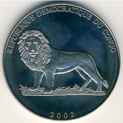 Монета > 5франка, 2002 - Конго - КДР  (Introduction of the Euro in the Vatican) - obverse