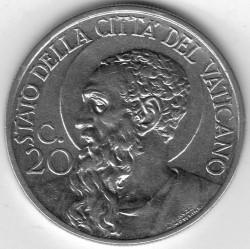 Moneta > 20centesimi, 1939 - Watykan  - reverse
