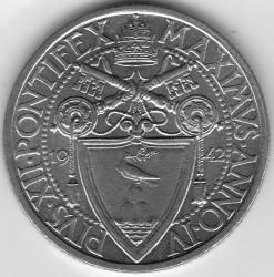 Monēta > 1lira, 1942-1946 - Vatikāns  - obverse