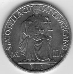 Moneta > 1lir, 1942-1946 - Watykan  - reverse