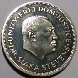 Pièce > 1leone, 1974 - Sierra Léone  (10ème anniversaire de la banque centrale) - obverse
