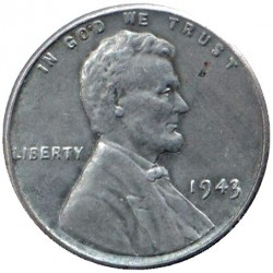 Монета > 1цент, 1943 - США  - reverse