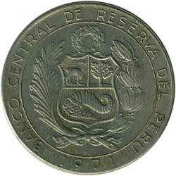 Moneta > 5soles, 1971 - Perù  (150° anniversario - Indipendenza) - obverse