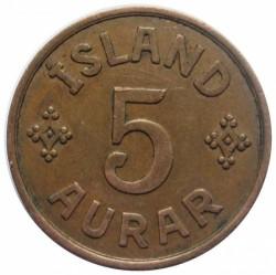 Mynt > 5aurar, 1926-1942 - Island  - reverse