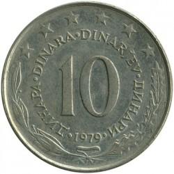 Moneda > 10dinares, 1979 - Yugoslavia  - reverse