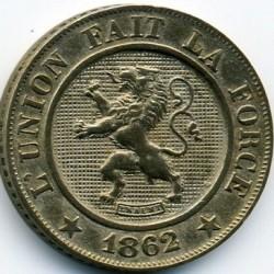 Moneta > 10centymów, 1861-1864 - Belgia  - obverse