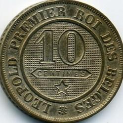 Moneta > 10centymów, 1861-1864 - Belgia  - reverse