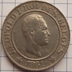 Munt > 20centimes, 1860-1861 - Belgie  - obverse