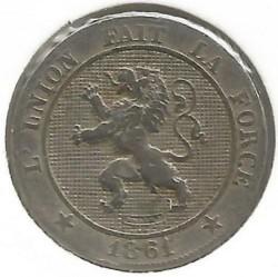 Moneta > 5centymów, 1861-1864 - Belgia  - obverse
