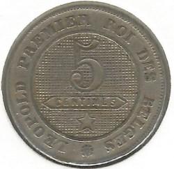 Moneta > 5centymów, 1861-1864 - Belgia  - reverse