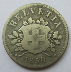 Монета > 10рапена, 1850-1876 - Швейцария  - obverse
