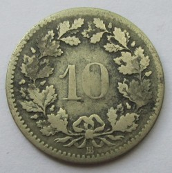 Монета > 10рапена, 1850-1876 - Швейцария  - reverse