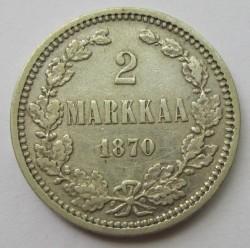 Moneta > 2markkaa, 1865-1908 - Finlandia  - reverse