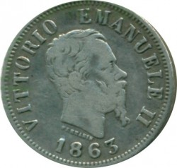 Монета > 50чентезимо, 1863-1867 - Італія  - obverse