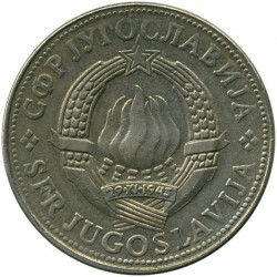 Moneda > 10dinares, 1981 - Yugoslavia  - reverse