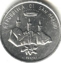 Moneda > 1lira, 1986 - San Marino  (Evolution of Technology) - obverse