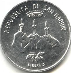 العملة > 5ليرة, 1986 - سان مارينو  (Evolution of Technology) - obverse