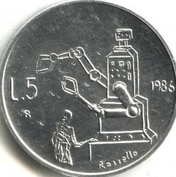 العملة > 5ليرة, 1986 - سان مارينو  (Evolution of Technology) - reverse