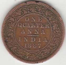 Coin > ¼ anna, 1877-1901 - India - British  - obverse