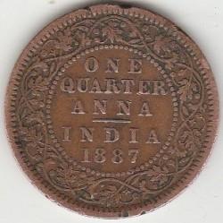 מטבע > ¼אנה, 1877-1901 - הודו הבריטית  - reverse