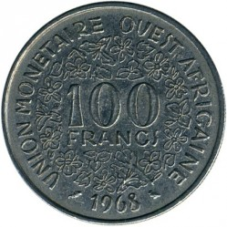 Մետաղադրամ > 100ֆրանկ, 1967-2009 - Արևմտյան Աֆրիկա (BCEAO)  - obverse