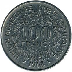 Moneta > 100franków, 1967-2009 - Afryka Zachodnia (BCEAO)  - obverse