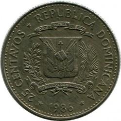 Coin > 25centavos, 1983-1987 - Dominican Republic  - reverse