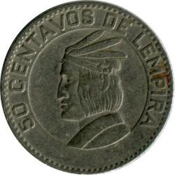 Кованица > 50центи, 1967 - Хондурас  - reverse
