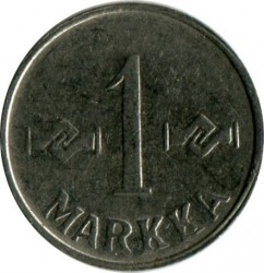 Кованица > 1марка, 1953-1962 - Финска  - obverse