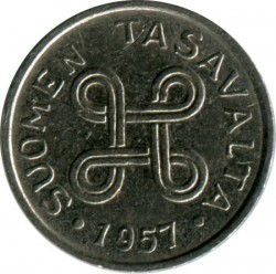 Münze > 1Mark, 1957 - Finnland  - reverse