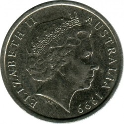 Coin > 10 cents, 1999 - Australia  - reverse