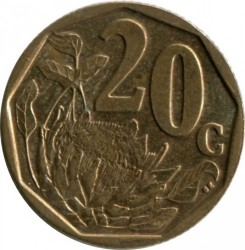 Coin > 20cents, 2005 - South Africa  - obverse