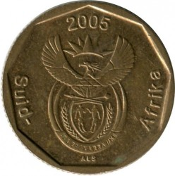 Coin > 20cents, 2005 - South Africa  - reverse