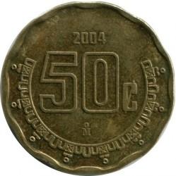 Coin > 50centavos, 2004 - Mexico  - reverse