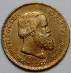 Mynt > 10reis, 1868-1870 - Brasilien  - obverse