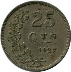 錢幣 > 25生丁, 1927 - 盧森堡  - obverse