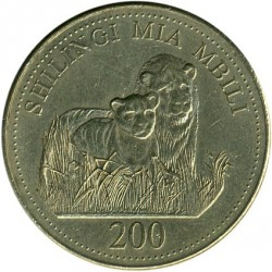 Minca > 200shillings, 1998-2014 - Tanzánia  - reverse