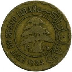 Moneta > 5piastre, 1924 - Libano  - obverse