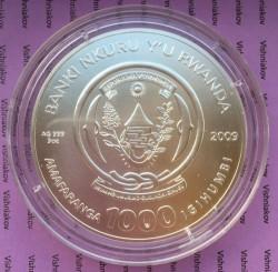 Moneta > 1000franków, 2009 - Rwanda  (Znaki zodiaku - Koziorożec) - obverse