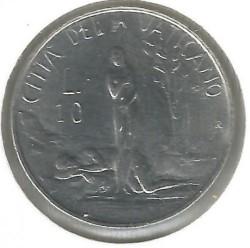 Minca > 10lire, 1982 - Vatikán  - reverse