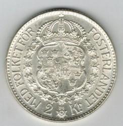 Mynt > 2kroner, 1931 - Sverige  - reverse