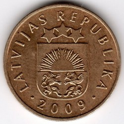 Moneta > 5santimi, 2009 - Lettonia  - reverse