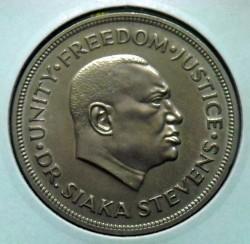 Moneta > 1leone, 1980 - Sierra Leone  (Conferenza al vertice dell'Organizzazione dell'unità africana) - obverse