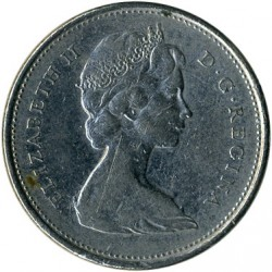 Coin > 25 cents, 1969 - Canada  (Nickel /magnetic/) - obverse
