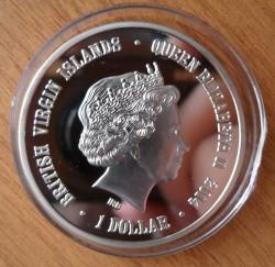 Moneta > 1dolar, 2014 - Brytyjskie Wyspy Dziewicze  (Zoo w Nowosybirsku - Niedźwiedź polarny) - obverse