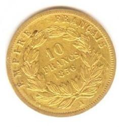 Moneta > 10franchi, 1855-1860 - Francia  (Diametro 19mm) - reverse