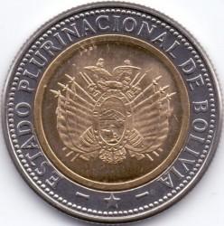 Coin > 5bolivianos, 2010-2012 - Bolivia  - obverse